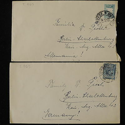 ZS-Y740 PERU - Covers, 1938, Great Franking To Germany, Lot Of 2