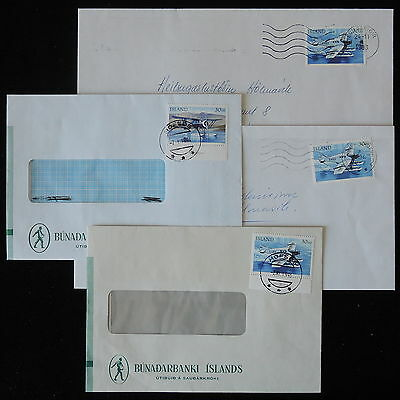 ZS-Y796 AVIATION - Iceland, 1993, Airplane, Great Lot Of 4 Covers
