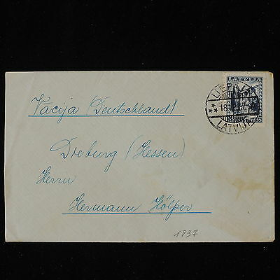 ZS-Y859 LATVIA - Cover, 1937, Great Franking To Germany