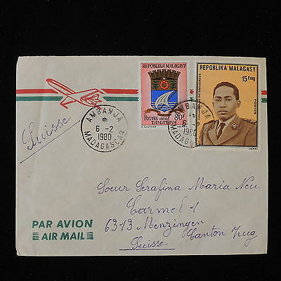 ZS-Y872 MADAGASCAR IND - Cover, 1980, Airmail To Switzerland