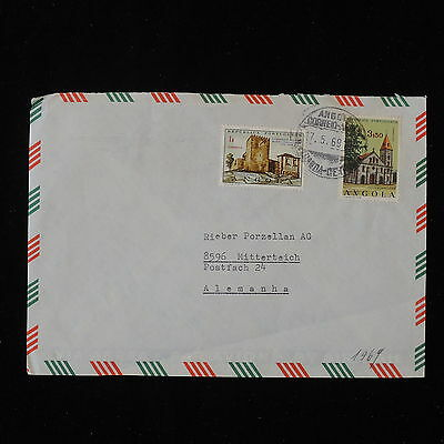 ZS-Y876 ANGOLA IND - Buildings, 1969, Great Franking To Germany Cover