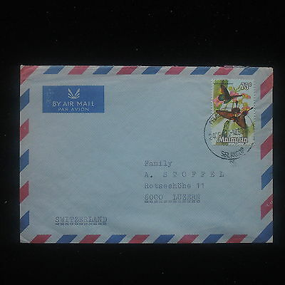 ZS-Y955 BUTTERFLIES - Malaysia, 1974, Airmail To Switzerland Cover