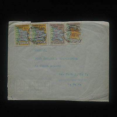 ZS-Y964 ANGOLA IND - Maps, Airmail To New York, Usa Cover