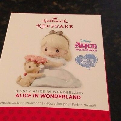 2013 Hallmark Alice in Wonderland Precious Moments Disney Ornament