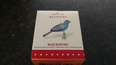 2015 Hallmark Beauty of Birds Blue Bunting Miniature Ornament