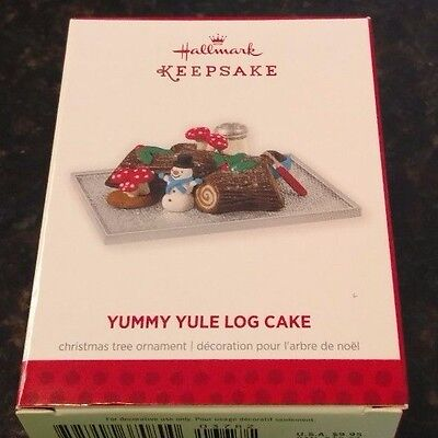 2013 Hallmark Yummy Yule Log Cake Ornament