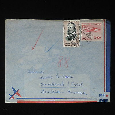ZS-Z364 CHILE - Cover, 1962 Airmail To Innsbruck Austria