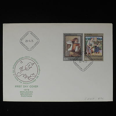 ZS-Z394 FINLAND - Fdc, 1975 Europa Cept, Paintings Cover