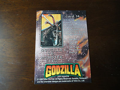 Godzilla Chromium Trading Card:Godzilla vs Monster Zero #14.Toho Co1996