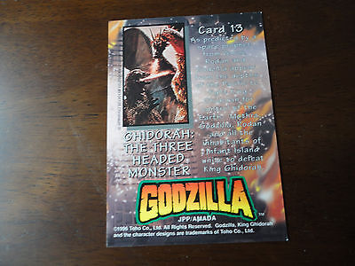 Godzilla Chromium Trading Card:Ghidorah:The Three Headed Monster #13.Toho Co1996