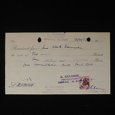 ZS-Z564 SOUTH AFRICA IND - Receipt, 1953 Fiscal Use, Revenue 1D Cover