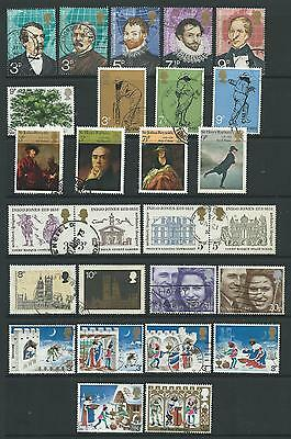 Fine used collection of 1973 GB commemoratives.