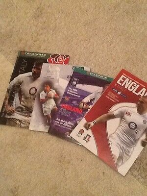 England V Italy Rugby Union Programmes X4