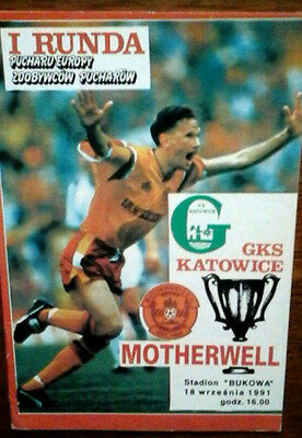 Gks Katowice V Motherwell 18/9/1991 European Cup Winners Cup