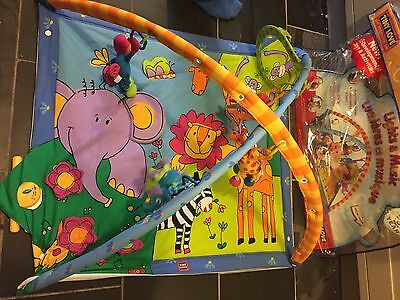 TINY LOVE UNISEX Deluxe Baby Gym & Play Mat LARGE PLAYMAT Animals