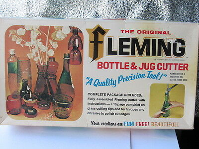 Vintage Fleming GLASS  Bottle & Jug CUTTER  Tool Kit 16pg GIFT IDEAS Directions!
