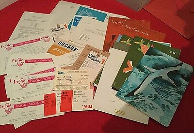 P&o Cruise Ship-Liner.ss Orcades Collection Of Paperwork,menus,daily Programmes