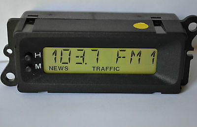 Refurbished Land Rover Freelander Rover MG 8 Pin Clock Radio CD LCD Display