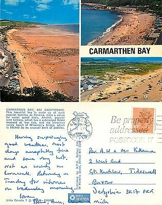 s08317 Carmarthen Bay, Carmarthenshire, Wales postcard posted 1980 stamp