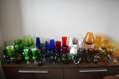 Large Vintage Mid Century Glass Collection Job Lot