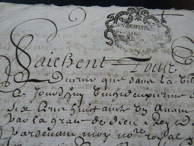 Superb 17th Century French Legal Document, Hand Written Sepia Ink Sript, 1681