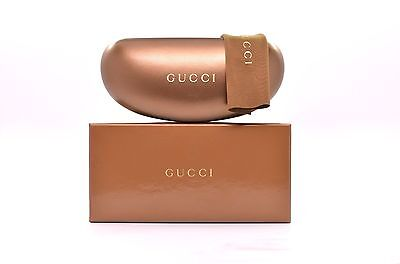 NEW Gucci Case Bronze Brown Sunglasses and Eyeglasses Case Authentic