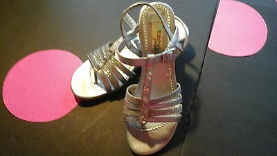Girl's  Youth Silver Gem Dress Shoes Silver Size 4M