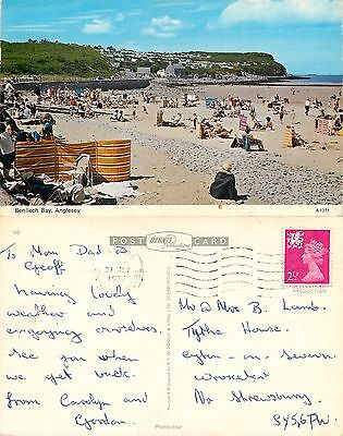 s08328 Benllech Bay, Anglesey, Wales postcard posted 1972 stamp