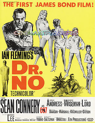 DR NO GOLDFINGER THUNDERBALL FROM RUSSIA WITH LOVE James Bond Trade Ad Posters
