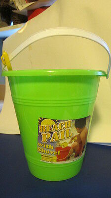 Beach/Sand Pail with Shovel. Bright Colors. New. Large.