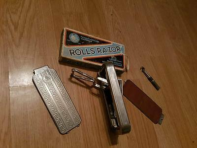 Vintage Rolls Razor,,good Condition,with Box And Instructions..