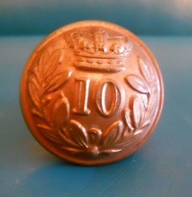 Or's Gm Button .10Th -North Linconshire  Regt Of Foot. Qvc.