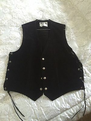 Suede And Leather Vest