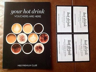 Marks and Spencer M&S Hot Drinks Vouchers x 4 Valid Until 28th Feb 2017