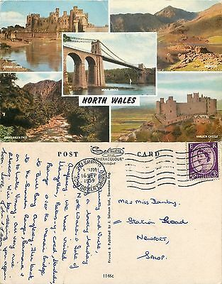 s08353 North Wales, Wales postcard posted 1959 stamp