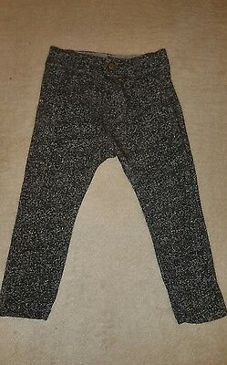 zara baby toddler boy grey smart trousers age 3-4 worn once