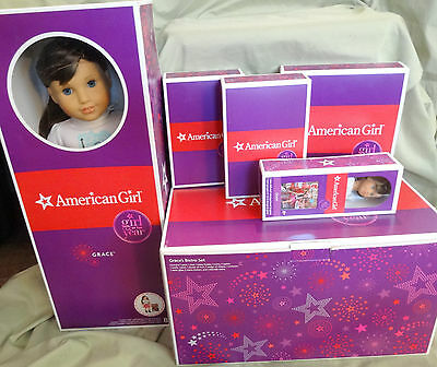 American Girl Grace Doll + Book & Bistro Set & Minidoll & Outfit & Accessories
