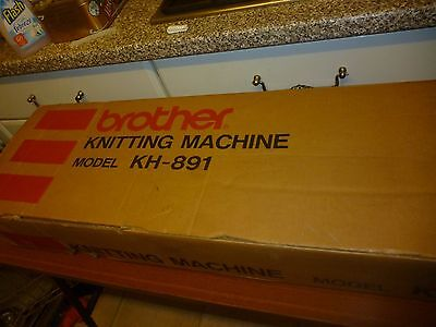 Brother KH891 Punchcard Knitting Machine and KR850 Ribber Attachment