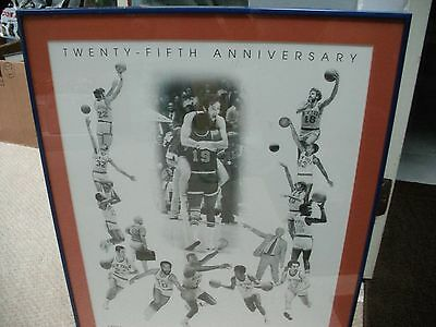 1973 New York Knicks Basketball 25Th Anniversity Collage Poster In Glass Frame