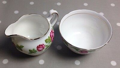 Royal Vale  China Milk Jug and Shugar Bowl