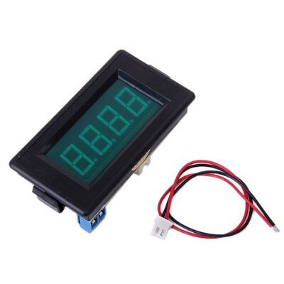 3 1/2 Digital green LED DC Voltmeter Strap 10A Connecting Cable DC6-15.5V DI