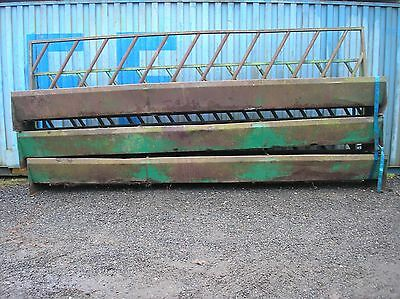 Cattle Feed Trough With Barrier