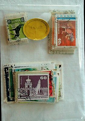 International Postage Stamps: Used, Packet of 120, includes some Australian