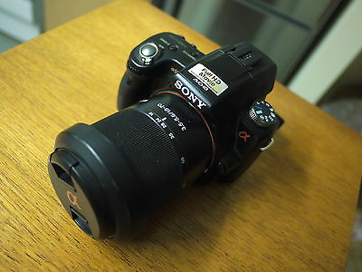 Sony Alpha A55 16.2MP DSLR camera with 18-70mm lens