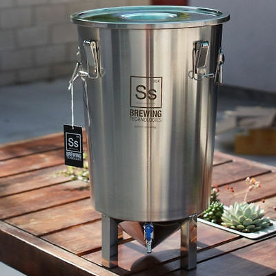 SS Brewing Tech ~The Brew Bucket 7 Gallon Stainless Steel Conical Fermenter Beer