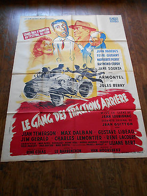 LE GANG DES TRACTIONS ARRIERE '50 French Movie Car Poster Citroen Traction Avant