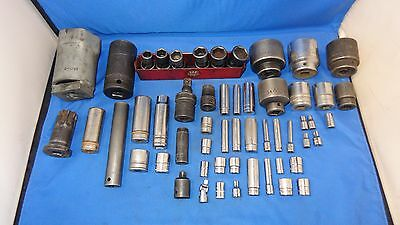 Lot of Snap on - Mac - Blue Point - Matco - Wright -S+K Tools - Assorted Sockets