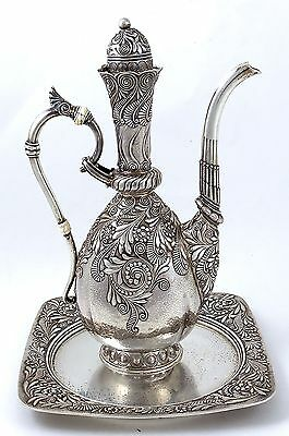 Aesthetic GORHAM Sterling Turkish COFFEE POT with UNDER TRAY
