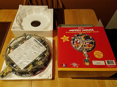 V. Rare & Vintage Legendary MICKEY MOUSE Talking Musical Animated Wall Clock