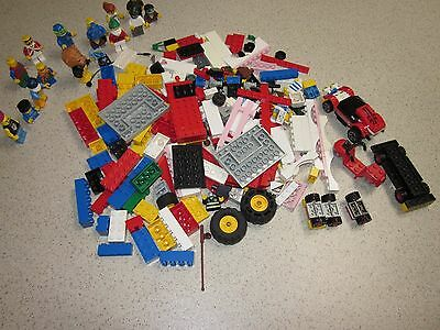 A Bulk  Lot Of Lego Blocks And 15 Minifigures  460 Gram All Together